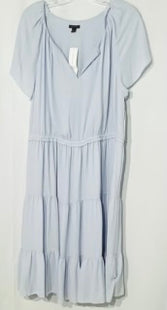 Primary Photo - BRAND: ANN TAYLOR STYLE: DRESS SHORT SHORT SLEEVE COLOR: BABY BLUE SIZE: XL SKU: 262-26275-69141