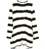 Photo #1 - BRAND: ROMEO AND JULIET <BR>STYLE: SWEATER CARDIGAN LIGHTWEIGHT <BR>COLOR: STRIPED <BR>SIZE: L <BR>SKU: 262-26211-139532<BR><BR>BLACK AND WHITE