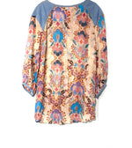 Photo #1 - BRAND:    ARATTA SILENT JOURNEY <BR>STYLE: BLOUSE TUNIC <BR>COLOR: PINK BLUE<BR>SIZE: L<BR>OTHER INFO: <BR>SKU: 262-26275-69816<BR>DESIGNER FINAL