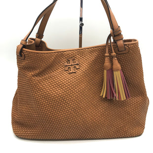 "Primary Photo - BRAND: TORY BURCH STYLE: HANDBAG DESIGNER COLOR: TAN SIZE: MEDIUM SKU: 262-26275-68926APPROX. 13.5""L X 9.5""H X 6""D. PRICE REFLECTS SOME SPOTS"