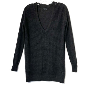 Primary Photo - BRAND:    ATM ANTHONY THOMAS MELILLOSTYLE: SWEATER CASHMERE COLOR: DARK GREY SIZE: S OTHER INFO: ATM - SKU: 262-26275-74438DESIGNER FINAL V NECK100% CASHMERE