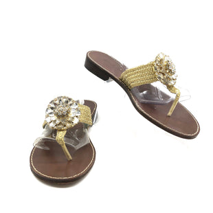 Primary Photo - BRAND:  CMA STYLE: SANDALS FLAT COLOR: GOLD SIZE: 9 OTHER INFO: BEVERLY FELDMAN - SKU: 262-262101-3201