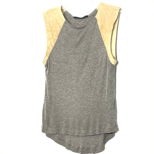 Primary Photo - BRAND: ALL SAINTS STYLE: TOP SLEEVELESS COLOR: GREY SIZE: M SKU: 262-26241-46668100% LEATHER SLEEVESDESIGNER FINAL