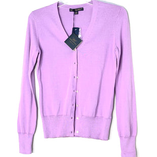 Primary Photo - BRAND: BROOKS BROTHERS STYLE: SWEATER CARDIGAN LIGHTWEIGHT COLOR: LILACSIZE: XS SKU: 262-26241-47097COTTON