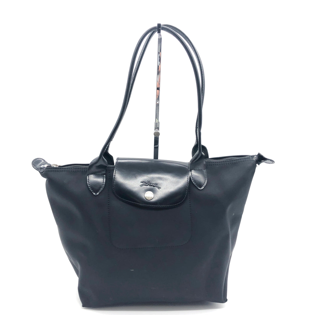 Primary Photo - BRAND: LONGCHAMP <BR>STYLE: MODELE DEPOSE<BR>COLOR: BLACK <BR>SIZE: SMALL <BR>SKU: 262-26275-74621<BR>WEAR SHOWS • BROKEN ZIPPER • AS IS