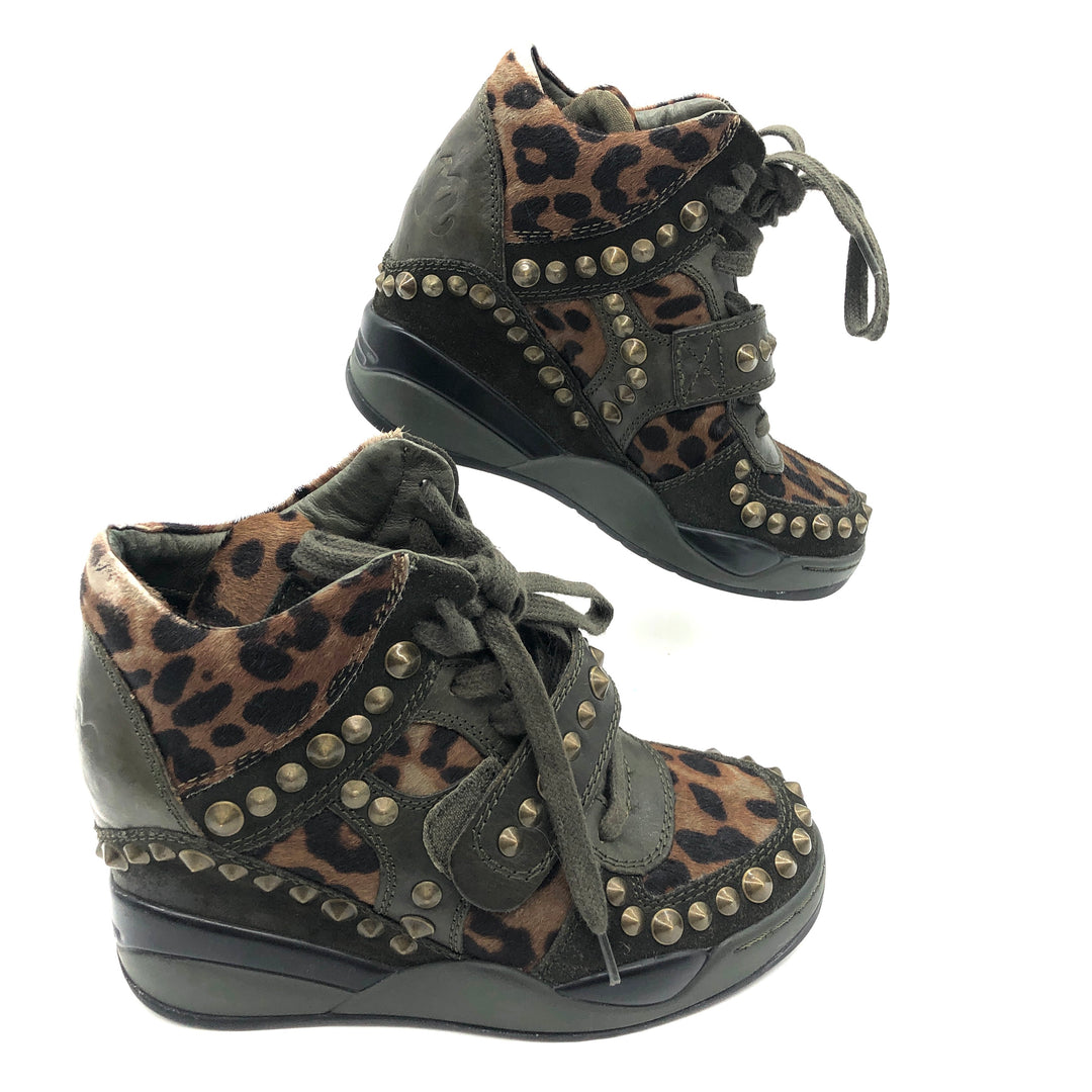 Photo #1 - BRAND: ASH <BR>STYLE: SHOES ATHLETIC <BR>COLOR: ANIMAL PRINT <BR>SIZE: 36 (US: APPROX. 5.5)<BR>SKU: 262-26275-73921<BR><BR>SLIGHT WEAR INCLUDING TONGUE, BACK OF SHOE