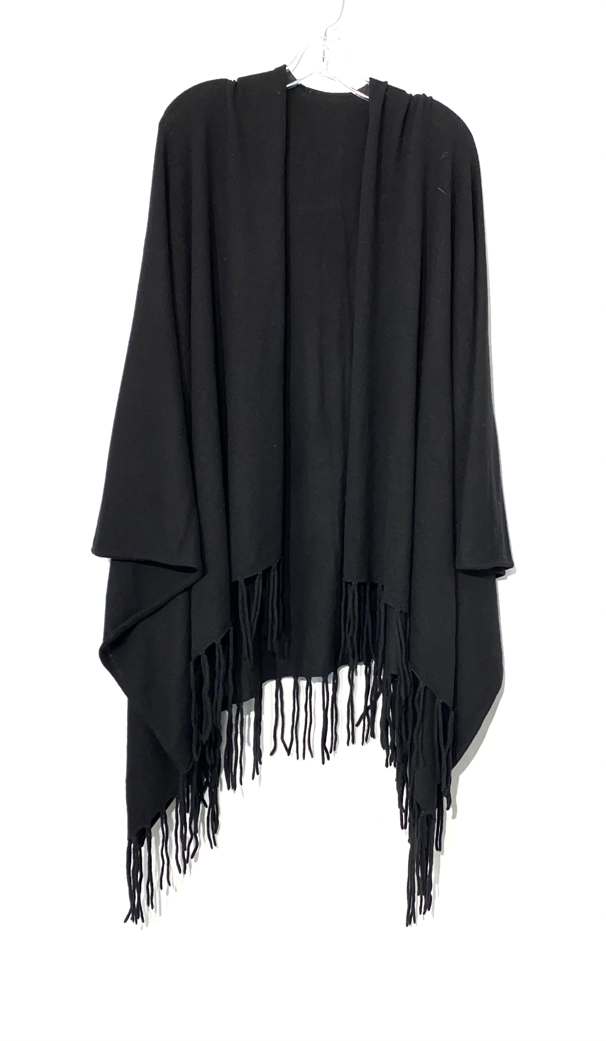Primary Photo - BRAND:    CLOTHES MENTOR <BR>STYLE: SHAWL <BR>COLOR: BLACK <BR>SIZE: M/L<BR>SKU: 262-26275-70955