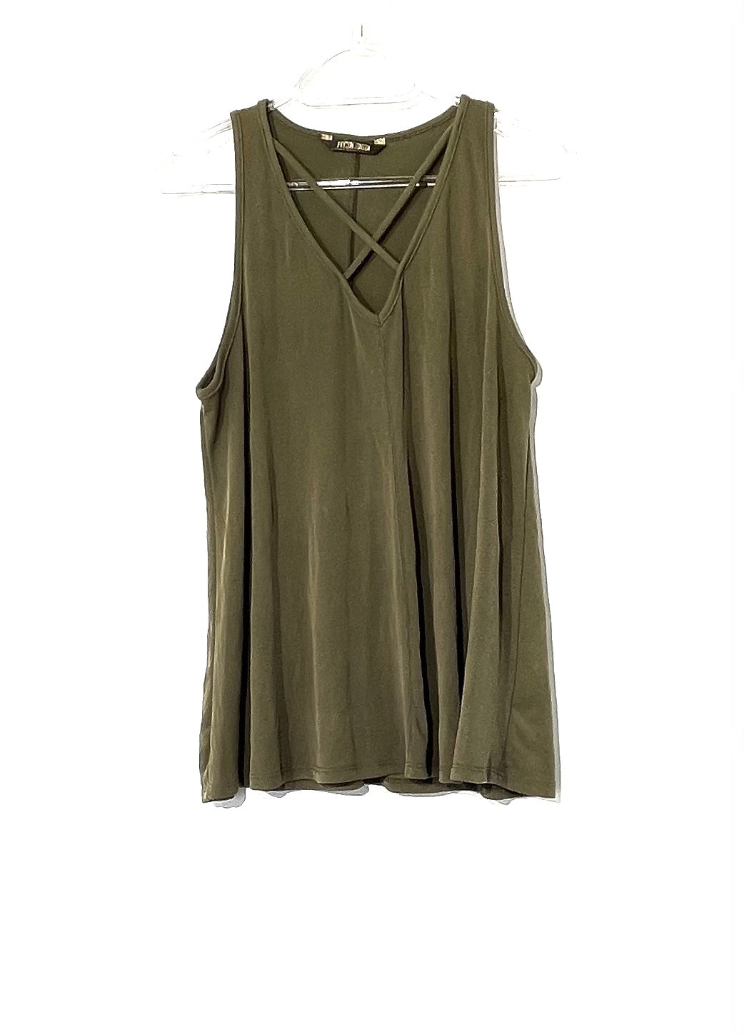 Primary Photo - BRAND: PEYTON JENSEN <BR>STYLE: TOP SLEEVELESS <BR>COLOR: OLIVE <BR>SIZE: M <BR>SKU: 262-26275-73416