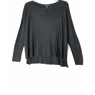Primary Photo - BRAND: EILEEN FISHER STYLE: TOP LONG SLEEVE SWEATER LIGHTWEIGHT COLOR: DARK GREY SIZE: PETITE   SMALL SKU: 262-262101-318590% VISCOSE 3% SPANDEX