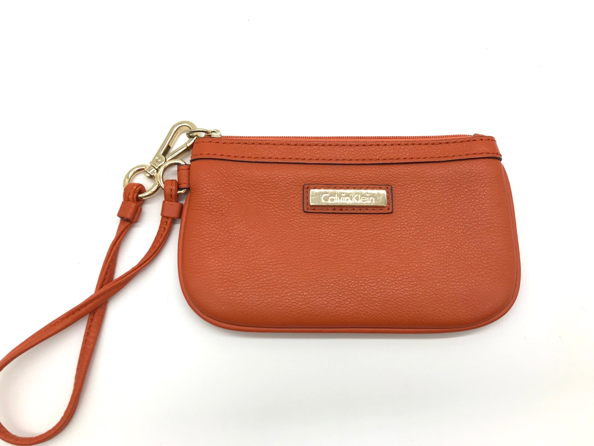 Primary Photo - BRAND: CALVIN KLEIN <BR>STYLE: COIN PURSE <BR>COLOR: ORANGE <BR>SIZE: MEDIUM <BR>SKU: 262-26241-40331<BR>AS IS