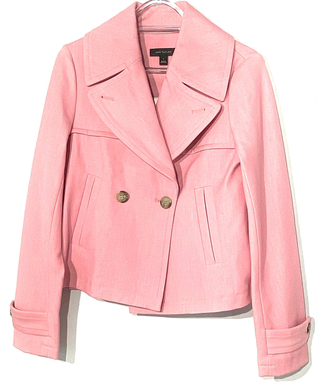 Primary Photo - BRAND: ANN TAYLOR <BR>STYLE: BLAZER JACKET <BR>COLOR: LIGHT PINK <BR>SIZE: XS /0<BR>SKU: 262-26241-42315