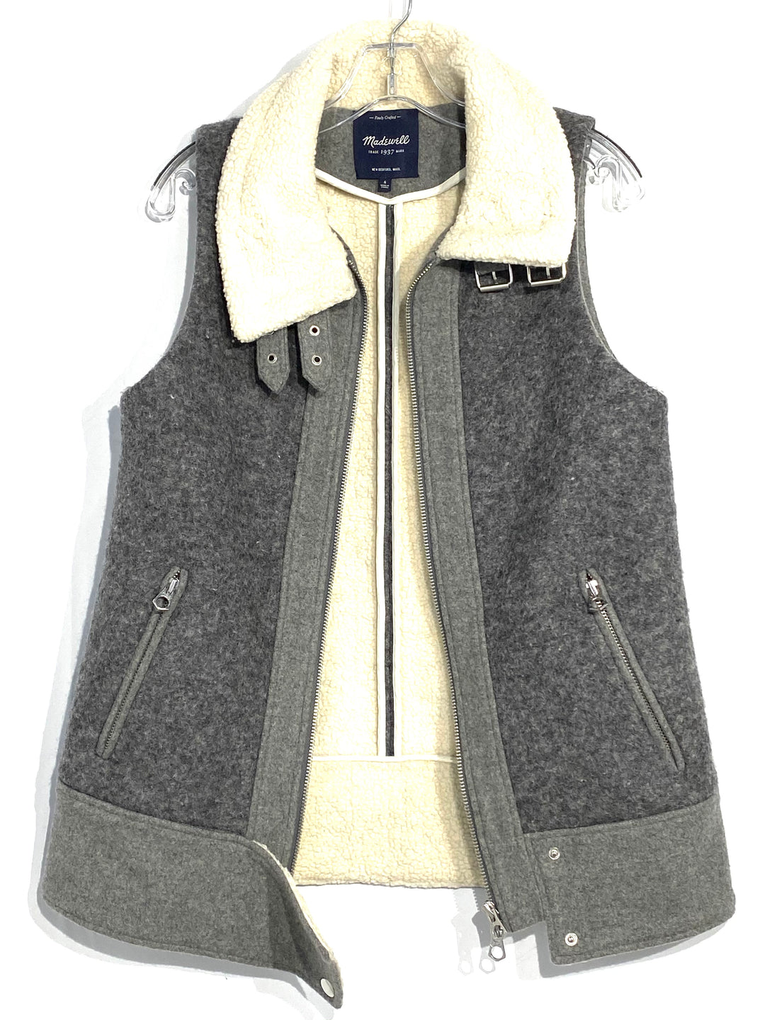 Primary Photo - BRAND: MADEWELL <BR>STYLE: VEST <BR>COLOR: GREY <BR>SIZE: S<BR>SKU: 262-26241-42367<BR><BR>31% WOOL