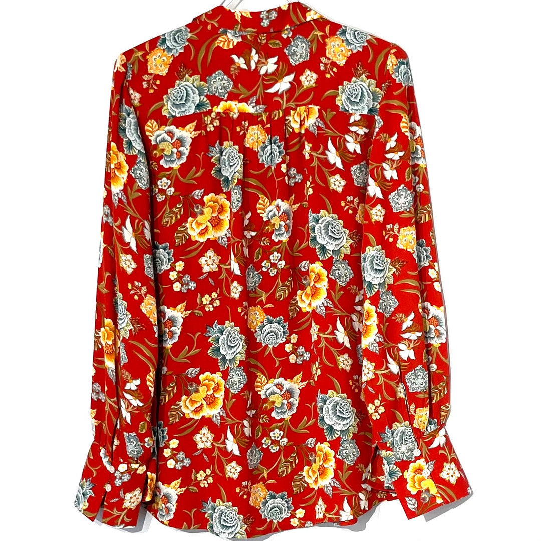 Photo #1 - BRAND: ANN TAYLOR LOFT <BR>STYLE: BLOUSE <BR>COLOR: FLORAL <BR>SIZE: M <BR>SKU: 262-26211-142017