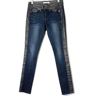 Primary Photo - BRAND: RICH AND SKINNY STYLE: JEANS COLOR: DENIM SIZE: 2 /24SKU: 262-26241-462372% SPANDEX DESIGNER FINAL FAUX LEATHER WAIST AND TRIM