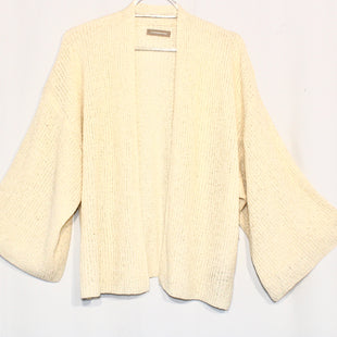 Primary Photo - BRAND: ANTHROPOLOGIE STYLE: SWEATER CARDIGAN LIGHTWEIGHT COLOR: CREAM SIZE: M SKU: 262-26275-58343SIZE TAG MISSING AS IS