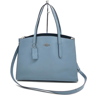 "Primary Photo - BRAND: COACH STYLE: HANDBAG DESIGNER COLOR: BABY BLUE SIZE: MEDIUM 11""H X 14""L X 6""WSTRAP DROP: 20""SKU: 262-26275-77353SLIGHT TEAR ON THE STRAPS • OVERALL IN GREAT SHAPE AND CONDITION •"