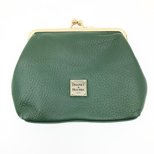 "Primary Photo - BRAND: DOONEY AND BOURKE STYLE: COIN PURSE COLOR: GREEN SIZE: MEDIUM SKU: 262-26241-42944AS IS DESIGNER BRAND FINAL SALE APOROX 6""X5"""