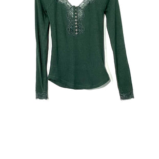 Primary Photo - BRAND: FREE PEOPLE STYLE: TOP LONG SLEEVE COLOR: DARK GREENSIZE: S SKU: 262-26275-71506