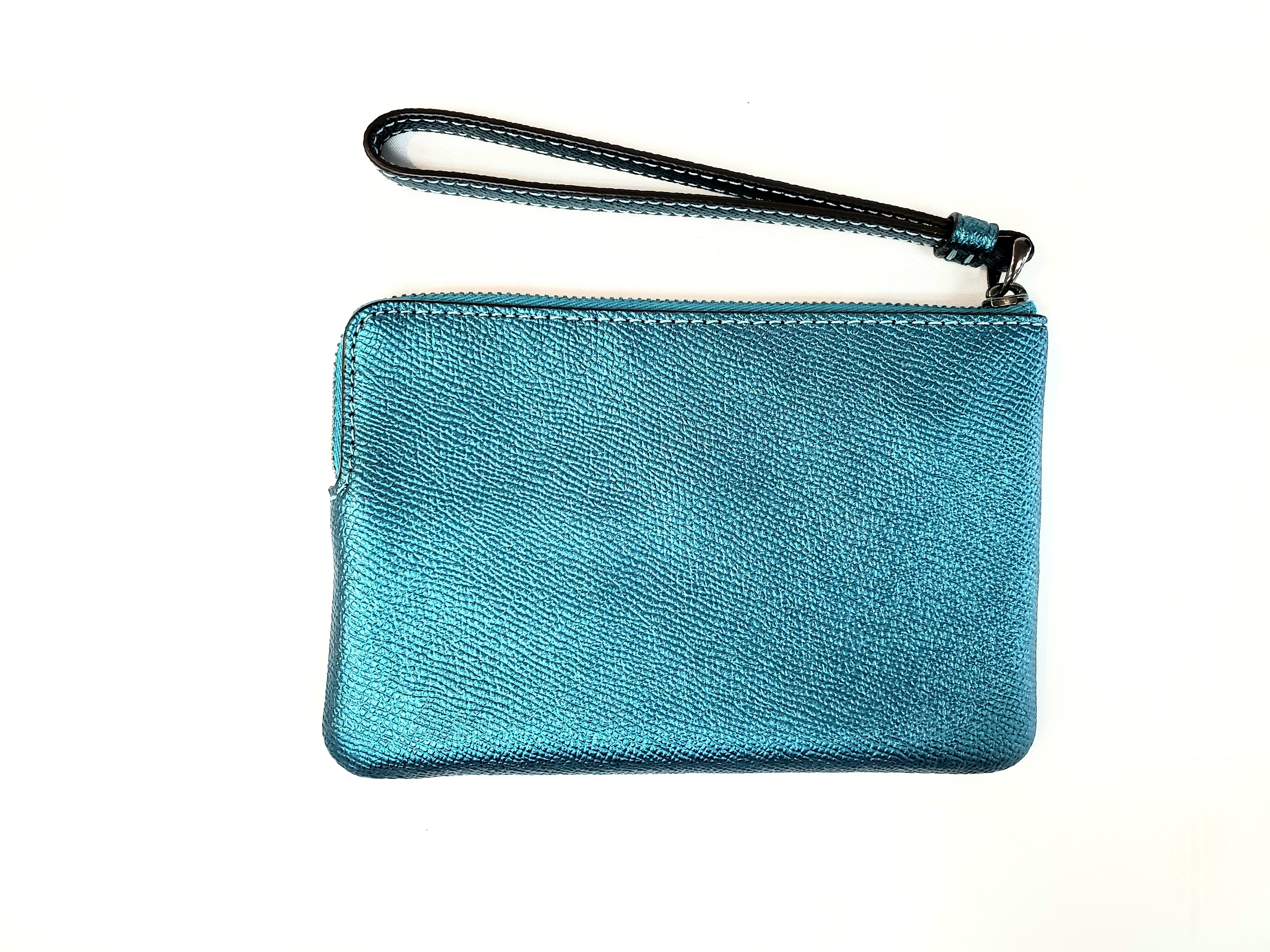 Photo #1 - BRAND: COACH <BR>STYLE: WRISTLET <BR>COLOR: SHINY TEAL <BR>SKU: 262-26241-41360<BR>AS IS <BR>DESIGNER ITEM FINAL SALE
