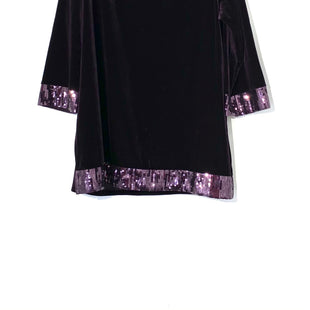 Primary Photo - BRAND: SUSAN GRAVER STYLE: TOP 3/4 LONG SLEEVE COLOR: EGGPLANT SIZE: L SKU: 262-26275-72286VELOUR