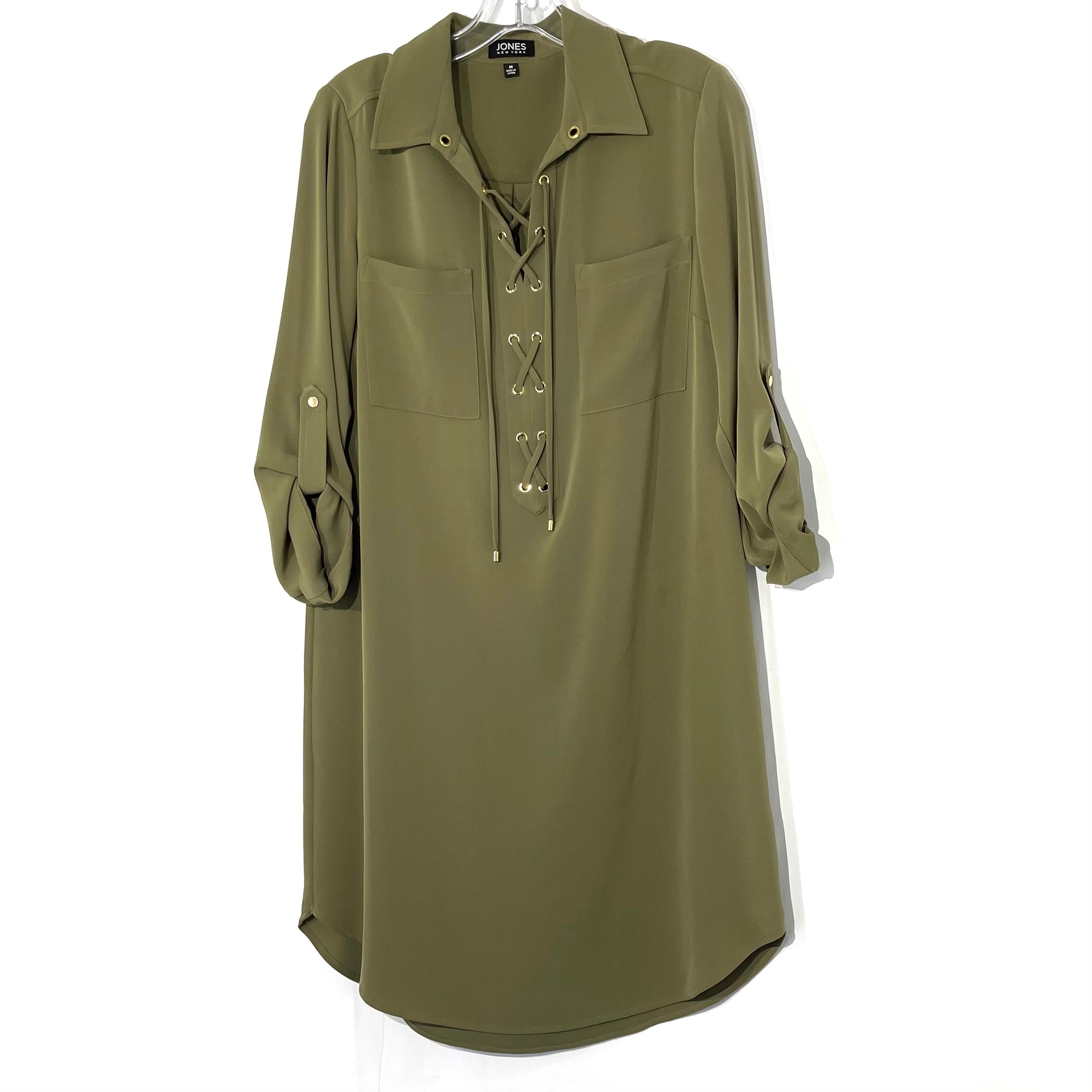 Primary Photo - BRAND: JONES NEW YORK <BR>STYLE: DRESS SHORT LONG SLEEVE <BR>COLOR: OLIVE <BR>SIZE: M <BR>SKU: 262-26275-73764