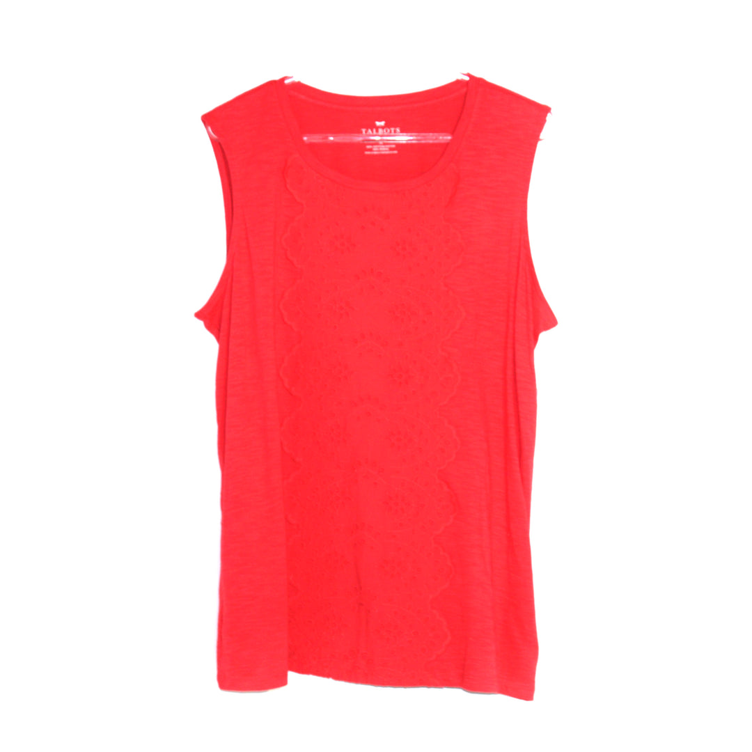 Primary Photo - BRAND: TALBOTS <BR>STYLE: TOP SLEEVELESS <BR>COLOR: RED <BR>SIZE: 1X <BR>SKU: 262-26211-124526