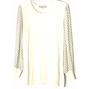 Primary Photo - BRAND: ANN TAYLOR LOFT O STYLE: TOP LONG SLEEVE COLOR: CREAM SIZE: 1X SKU: 262-26211-143276