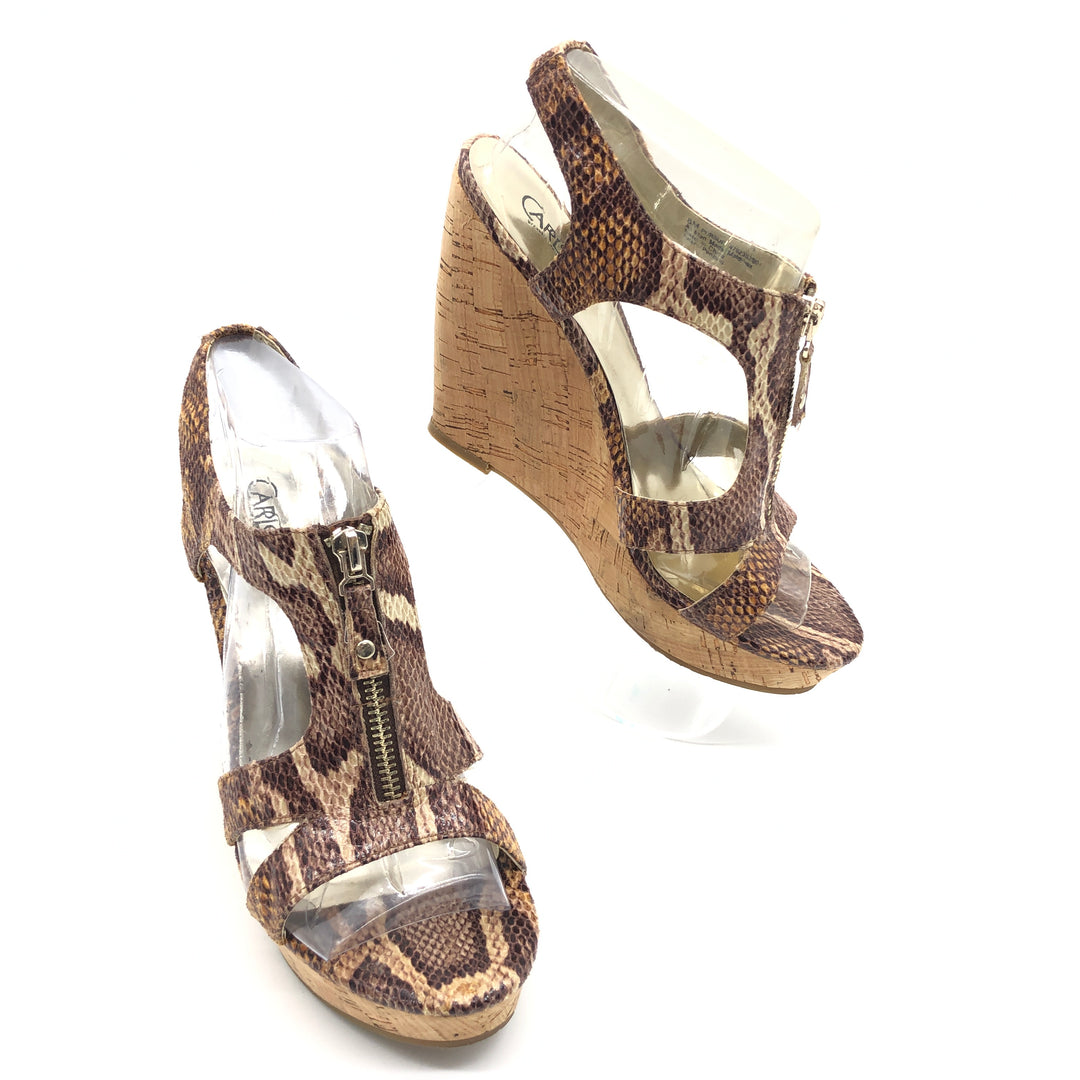Primary Photo - BRAND: CARLOS SANTANA <BR>STYLE: SANDALS LOW <BR>COLOR: SNAKESKIN PRINT <BR>SIZE: 8 <BR>SKU: 262-26275-75415<BR>IN GOOD SHAPE AND CONDITION