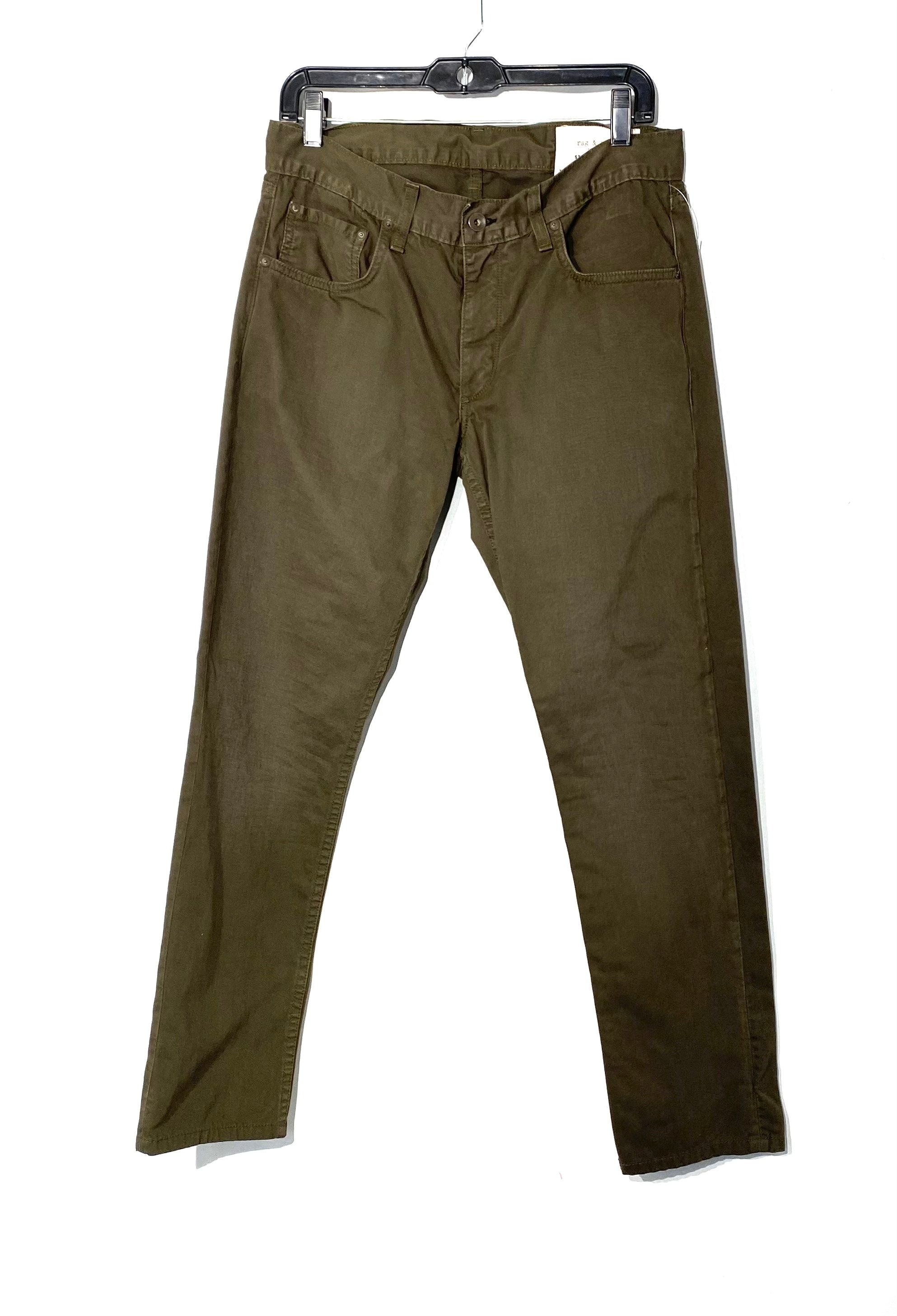 Primary Photo - BRAND: RAG AND BONE <BR>STYLE: PANTS <BR>COLOR: OLIVE <BR>SIZE: 12/31<BR>SKU: 262-26275-68342