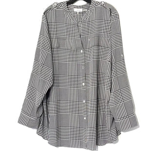 Primary Photo - BRAND: CALVIN KLEIN STYLE: TOP LONG SLEEVE COLOR: HOUNDSTOOTH SIZE: 3X SKU: 262-26275-76619