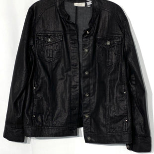 Primary Photo - BRAND: CHICOS STYLE: BLAZER JACKET COLOR: BLACK DENIMSIZE: XL /3SKU: 262-26275-69156SHIMMERS
