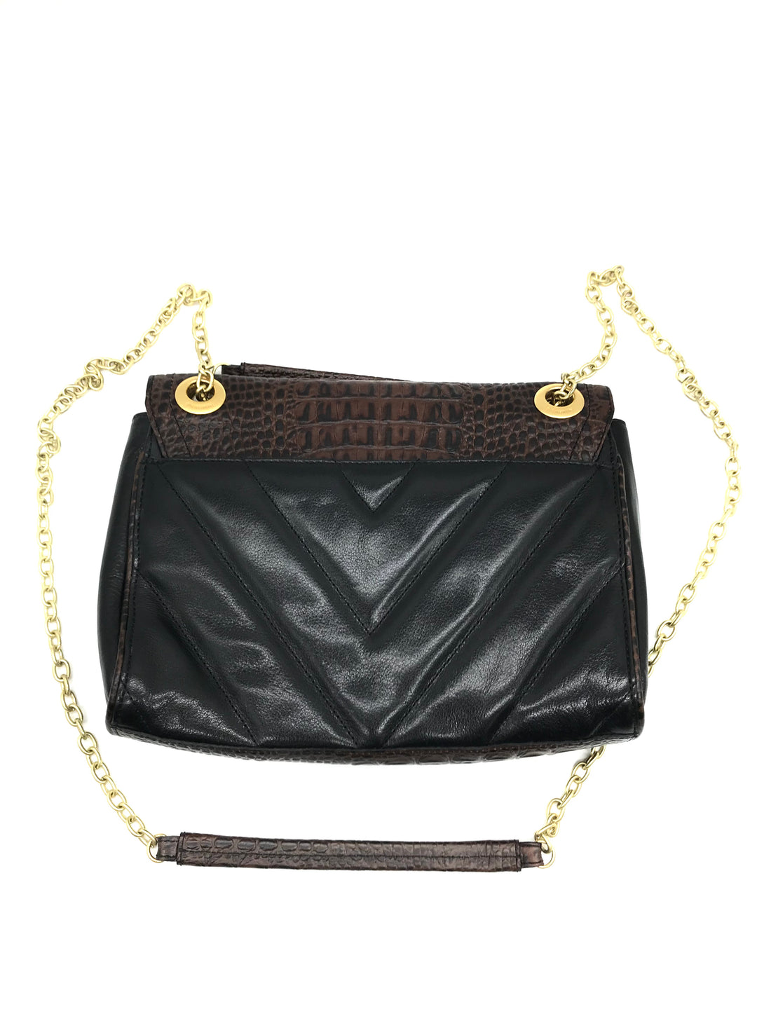 "Photo #1 - BRAND: BRAHMIN <BR>STYLE: HANDBAG DESIGNER <BR>COLOR: BLACK <BR>SIZE: MEDIUM <BR>SKU: 262-26275-69470<BR><BR>APPROX. 10""L X 8""H X 2.5""D"
