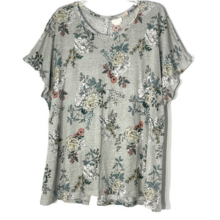 Primary Photo - BRAND:    RACHEL ASHWELLSTYLE: TOP SHORT SLEEVE COLOR: GREY WHITE SIZE: 3X OTHER INFO: SKU: 262-26241-47544100% LINEN