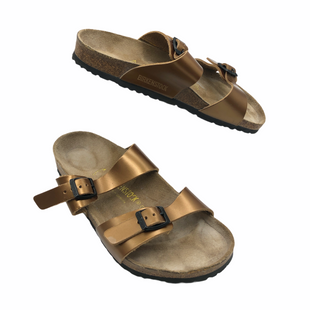 Primary Photo - BRAND: BIRKENSTOCK STYLE: SANDALS FLAT COLOR: BRONZESIZE: 10 | 41SKU: 262-26241-47918GENTLE WEAR - AS IS