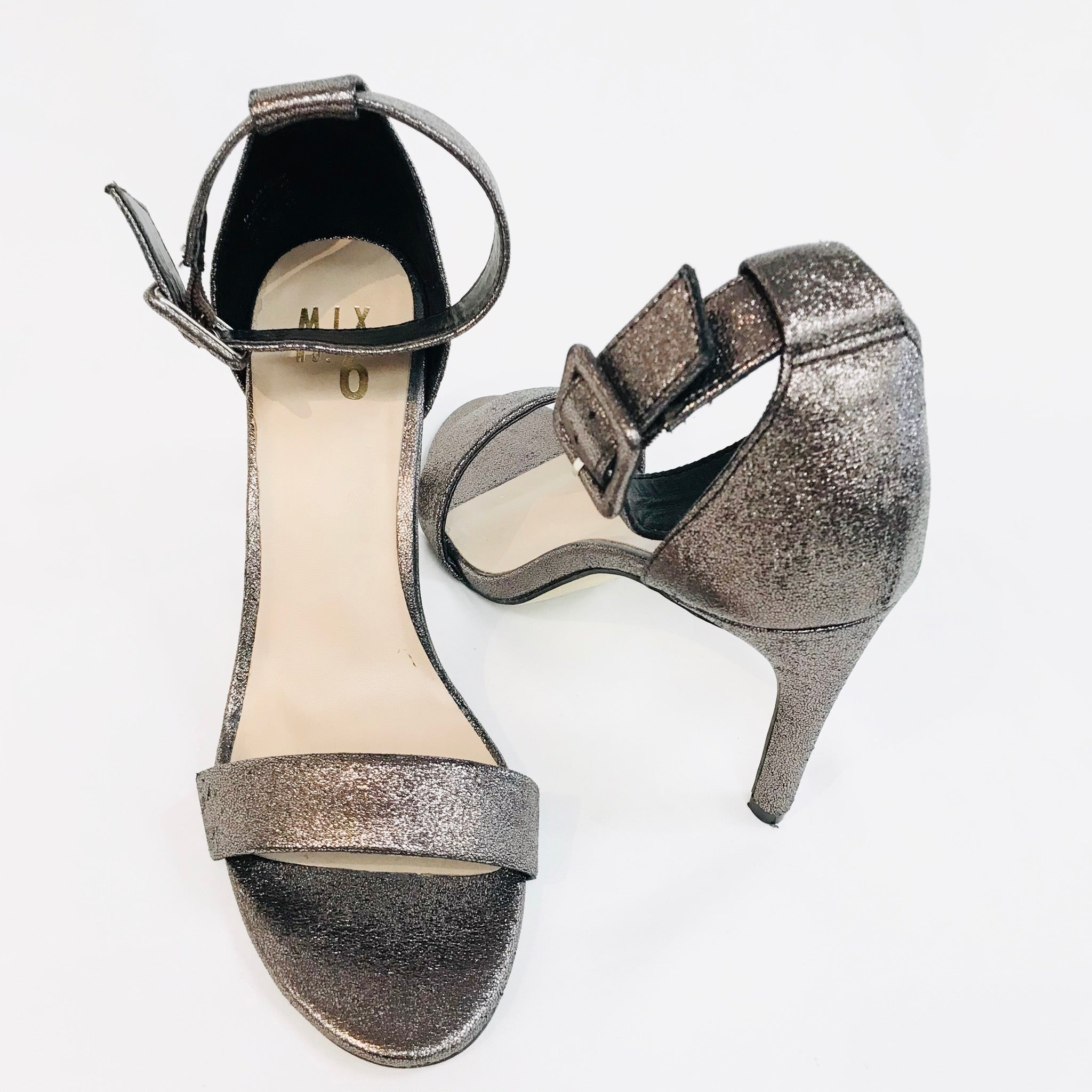Photo #1 - BRAND:  MIX NO.6<BR>STYLE: SANDALS HIGH HEELS<BR>COLOR: METALLIC <BR>SIZE: 8 <BR>SKU: 262-26241-31421<BR>- AS IS -