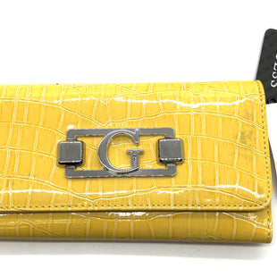 "Primary Photo - BRAND: GUESS STYLE: WALLET COLOR: YELLOW SIZE: MEDIUM SKU: 262-26275-74197APPROX. 7""L X 3.75""H. SLIGHT DISCOLORATION, SLIGHT WEAR INSIDE"