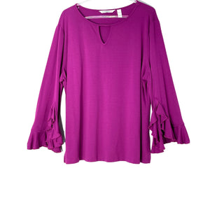 Primary Photo - BRAND: ISAAC MIZRAHI STYLE: TOP LONG SLEEVE COLOR: PURPLE SIZE: XL SKU: 262-26211-145275