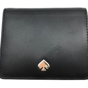 "Primary Photo - BRAND: KATE SPADE STYLE: WALLET COLOR: BLACK SIZE: SMALL SKU: 262-26241-42744APPROX. 4.5""L X 3.75""H"