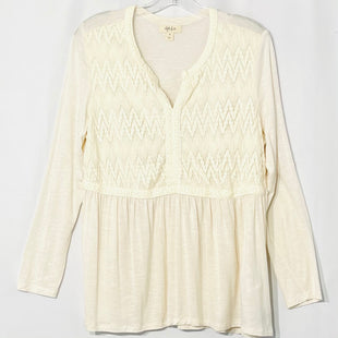 Primary Photo - BRAND: STYLE AND COMPANY STYLE: TOP LONG SLEEVE COLOR: CREAM SIZE: M SKU: 262-26241-44303