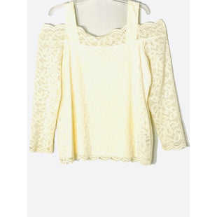 Primary Photo - BRAND: CHICOS STYLE: BLOUSE COLOR: IVORY SIZE: XL/3SKU: 262-26211-145281COLD SHOULDER STYLE