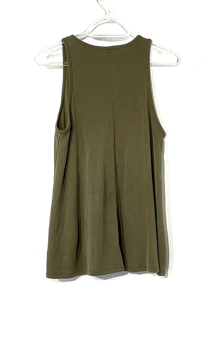 Photo #1 - BRAND: PEYTON JENSEN <BR>STYLE: TOP SLEEVELESS <BR>COLOR: OLIVE <BR>SIZE: M <BR>SKU: 262-26275-73416