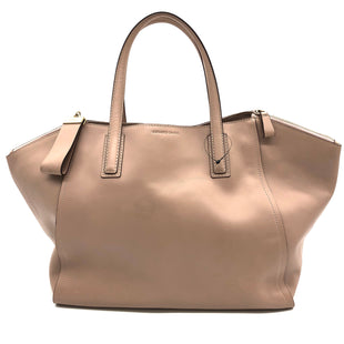 "Primary Photo - BRAND:  CMA STYLE: HANDBAG DESIGNER COLOR: DUSTY PINK SIZE: LARGE OTHER INFO: GERALD DAREL - SKU: 262-26211-143874VISIBLE MARKS AND GENTLEST WEAR ON HARDWARE (SEE PICS)19"" L X 10"" H X  7"" WDROP 6"""