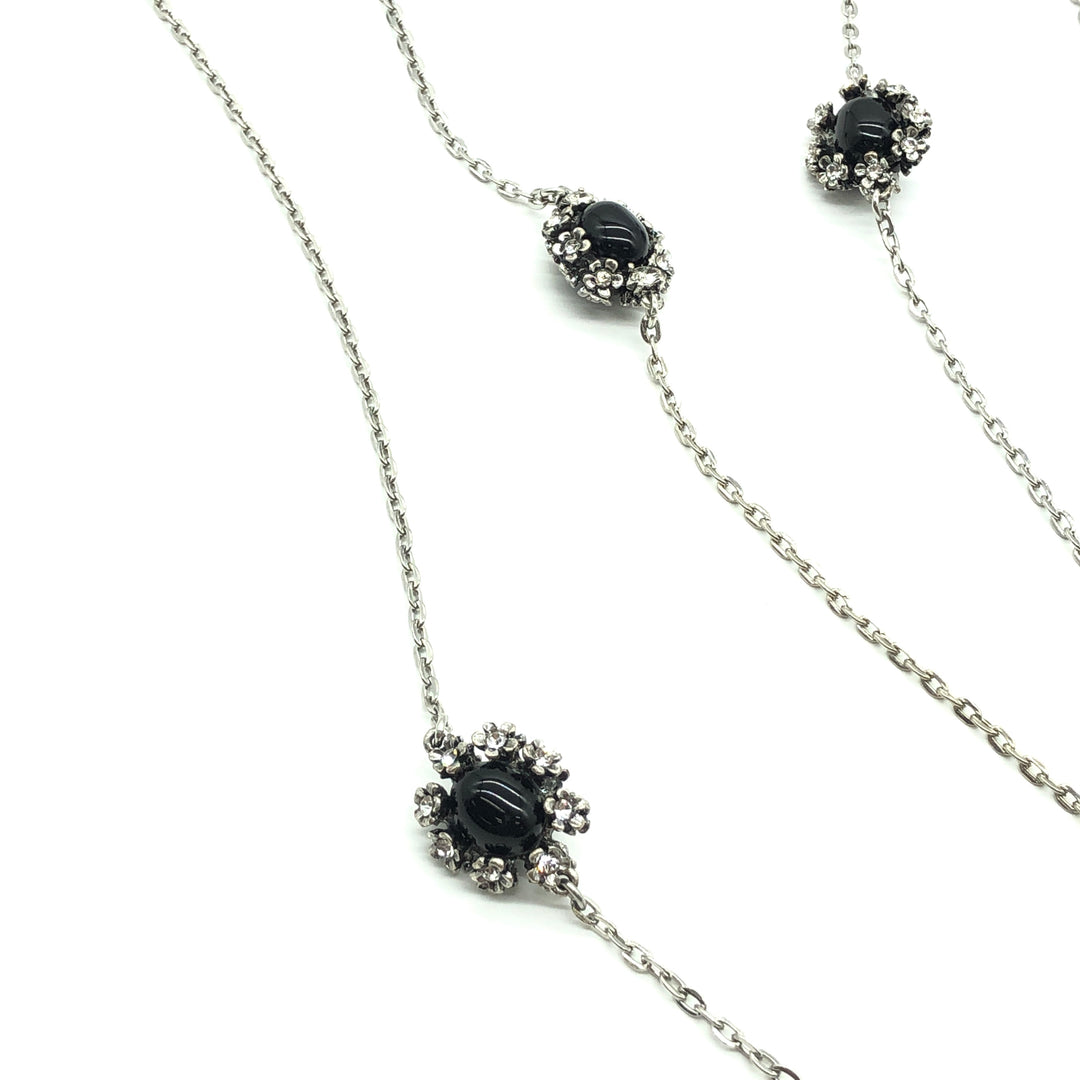 Photo #1 - BRAND:  WHITE HOUSE BLACK MARKET <BR>STYLE: LONG NECKLACE <BR>COLOR: BLACK | SILVER<BR>SKU: 262-26275-72898<BR>AS IS