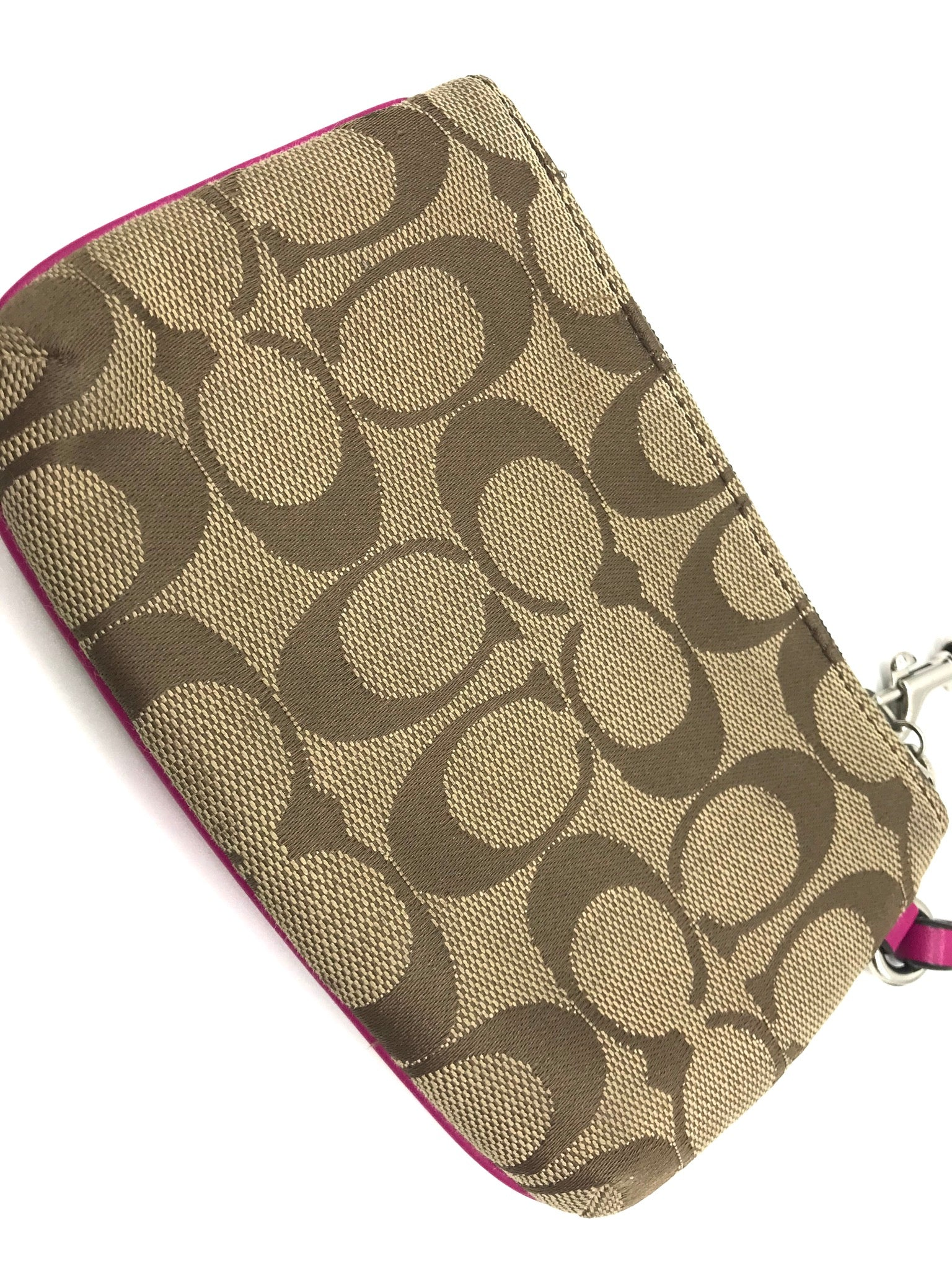 Photo #2 - BRAND: COACH <BR>STYLE: WRISTLET <BR>COLOR: MONOGRAM <BR>SKU: 262-262100-153<BR>GENTLE WEAR AS IS - OVERALL IN GOOD CONDITION <BR>DESIGNER BRAND - FINAL SALE