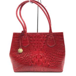 "Primary Photo - BRAND: BRAHMIN STYLE: HANDBAG DESIGNER COLOR: RED SIZE: SMALL OTHER INFO: WEAR INSIDE AS IS SKU: 262-26211-143115PRICE DOES REFLECT VISIBLE WEAR INSIDE AND SOME WEAR TO HANDLES. APPROX. 11.5""L X 9""H X 5""D."
