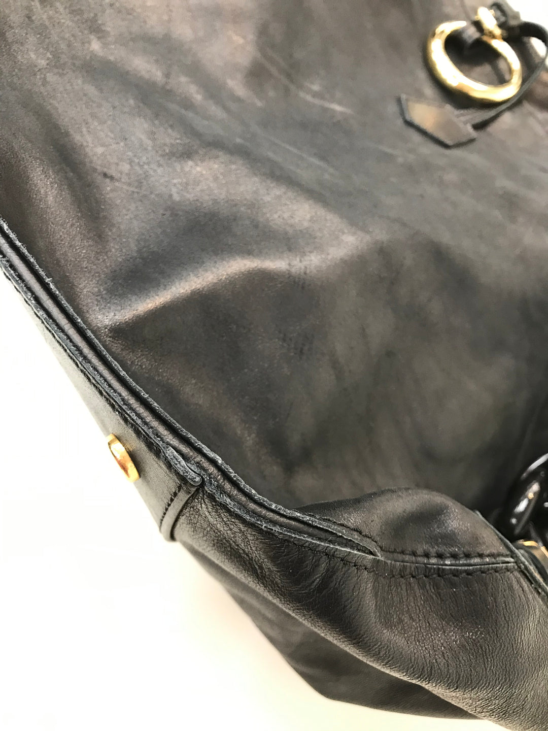 Photo #3 - BRAND:  DSQUARED2<BR>STYLE: HANDBAG <BR>COLOR: BLACK <BR>SIZE: SMALL <BR>SKU: 262-26275-61692<BR>SHOWS WEAR ON CORNERS<BR>AS IS