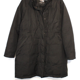 "Primary Photo - BRAND: NORTHFACE STYLE: COAT COLOR: BLACK SIZE: XL SKU: 262-26275-55052DESIGNER FINAL GOOSE DOWN FILLGREAT CONDITION. PIT TO HEM 25.5""."