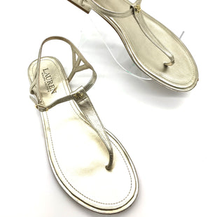 Primary Photo - BRAND: RALPH LAUREN STYLE: SANDALS FLAT COLOR: GOLD SIZE: 7.5 SKU: 262-26275-70162GENTLE SCUFFING ON THE TOE AND HEELS - AS IS