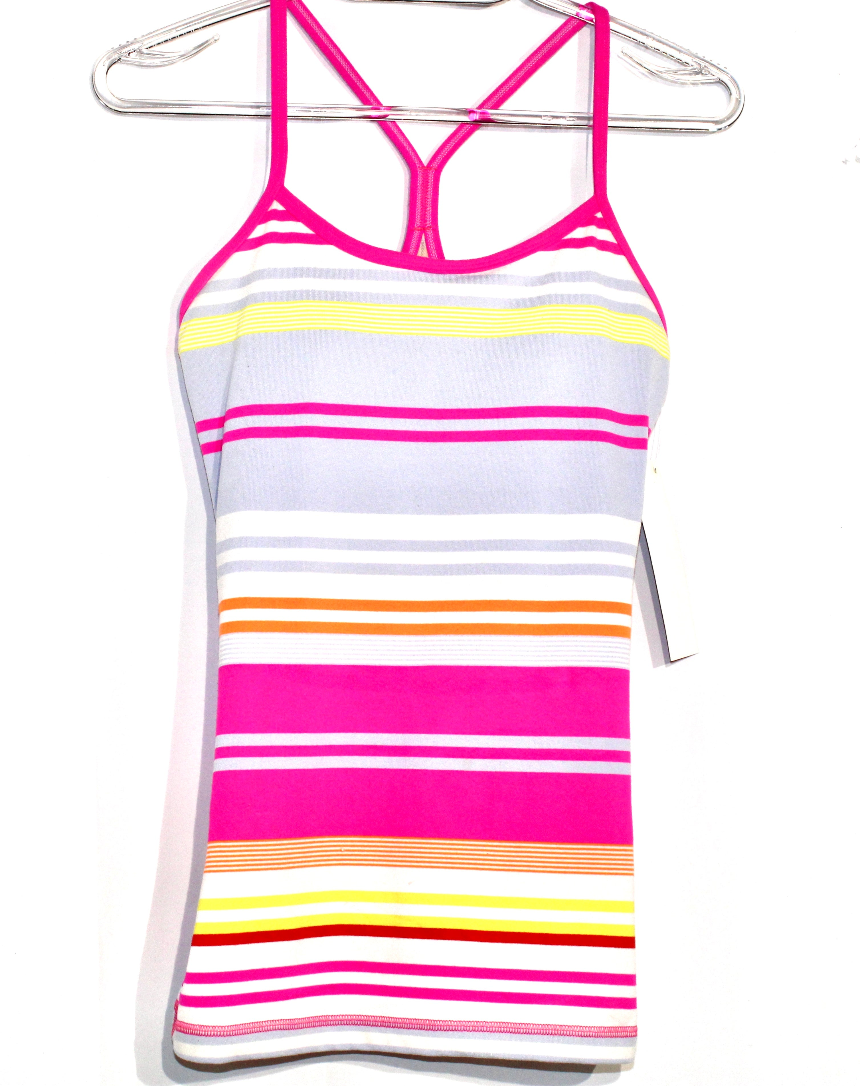 Primary Photo - BRAND: LULULEMON <BR>STYLE: ATHLETIC TANK TOP <BR>COLOR: STRIPED <BR>SIZE: 6 <BR>SKU: 262-26275-62463<BR><BR>SIZE TAG MISSING AS <BR>DESIGNER FINAL <BR>GENTLE WEAR AS IS