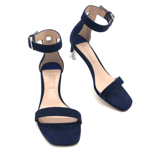Primary Photo - BRAND: STUART WEITZMAN STYLE: SANDALS LOW COLOR: NAVY SIZE: 6 SKU: 262-26275-73729DESIGNER BRAND FINAL SALE AS IS SMALL MARK ON BOTTOM BY HEEL ON LEFT SHOE